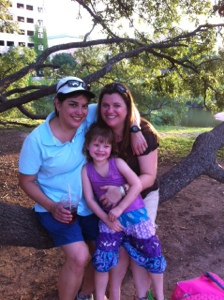 The Three of us at the duck pond.