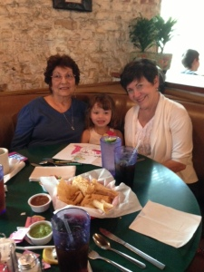 Lenox with both grandmas for her graduation weekend. Love you Nana and Gigi!